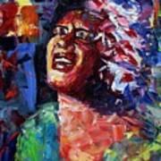 Billie Holiday Live Art Print