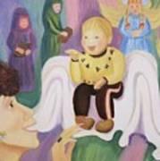 Billy As Baby Jesus Art Print