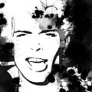 Billy Idol Splatter Art Print