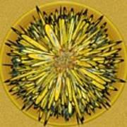 Billy Jean -- Floral Disk Art Print