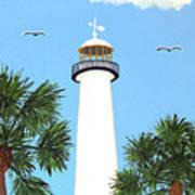Biloxi Lighthouse Painting Art Print