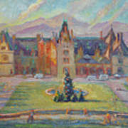 Biltmore Christmas Morning Art Print