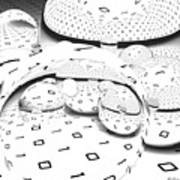 Binary Distortions Art Print