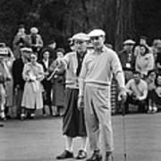 Bing Crosby And Ben Hogan Art Print