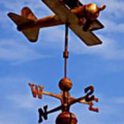 Biplane Weather Vane Art Print by Garry Gay