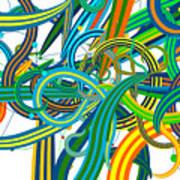 Bipolar Mania Rollercoaster Abstract Art Print