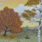 Birch And Oak Frienship Art Print