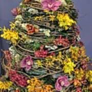 Birch And Orchid Twig Dress Exhibit Piece Art Print