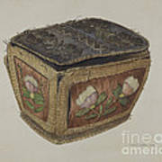 Birch Bark Sewing Basket Art Print