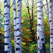 Birch Buddies Art Print