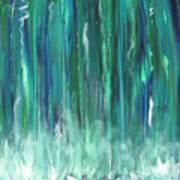 Birch Canoe At Waterfall Art Print