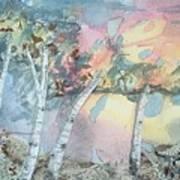 Birch Filigree Art Print