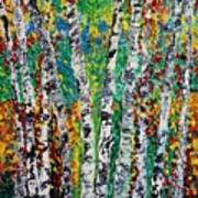 Birches And Scrub Art Print