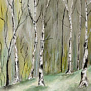 Birches Before Spring Art Print