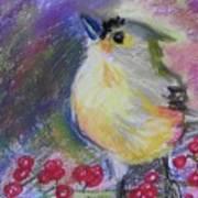 Bird And Berries Art Print
