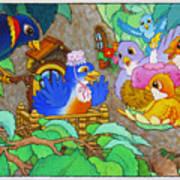 Bird-day Art Print