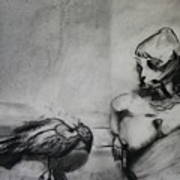 Bird Drama Art Print by Brad Wilson