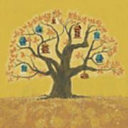 Bird Houses 01 Art Print