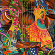 Bird Of Fire Guitar Art Print