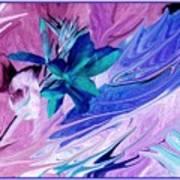 Bird Of Paradise In Blue Art Print