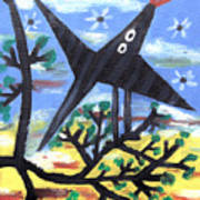 Bird On A Tree After Picasso Art Print