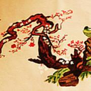 Bird On Branch Art Print