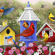 Bird Painting - Primary Colors Print by Crista Forest