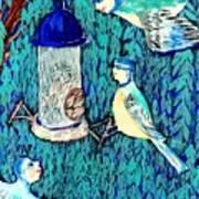 Bird People The Bluetit Family Art Print by Sushila Burgess