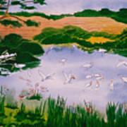 Bird Pond Art Print