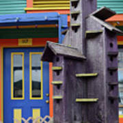 Birdhouses For Colorful Birds 2 Art Print