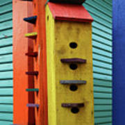 Birdhouses For Colorful Birds 6 Art Print