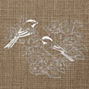Birds And Burlap 2 Art Print