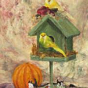 Birds and Cats Art Print
