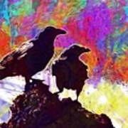 Birds Crow Black  Art Print