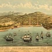Birds Eye View Map Of San Francisco 1846 Art Print