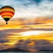 Birds Eye View Of Sunset Art Print