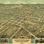 Bird's Eye View Of The City Of Huntsville, Madison County, Alabama 1871 Art Print