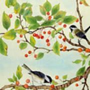 Birds In Autumn Season II Art Print