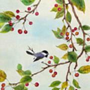 Birds In Autumn Season Art Print