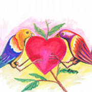 Birds In Love 01 Art Print