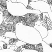 Birds In Pine Art Print