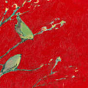 Birds In Red Art Print