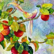 Birds On Apple Tree Art Print