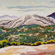 Birdseye Landscape #4 Art Print