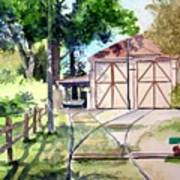Birney Trolley Barn Art Print by Tom Riggs