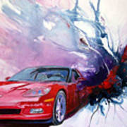 Birth Of A Corvette Art Print