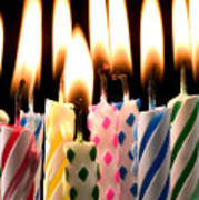 Birthday Candles Art Print