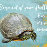 Birthday Card - Painted Turtle Art Print