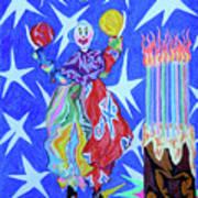Birthday Clown Print by Robert SORENSEN