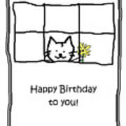 Birthday Greeting Card Art Print